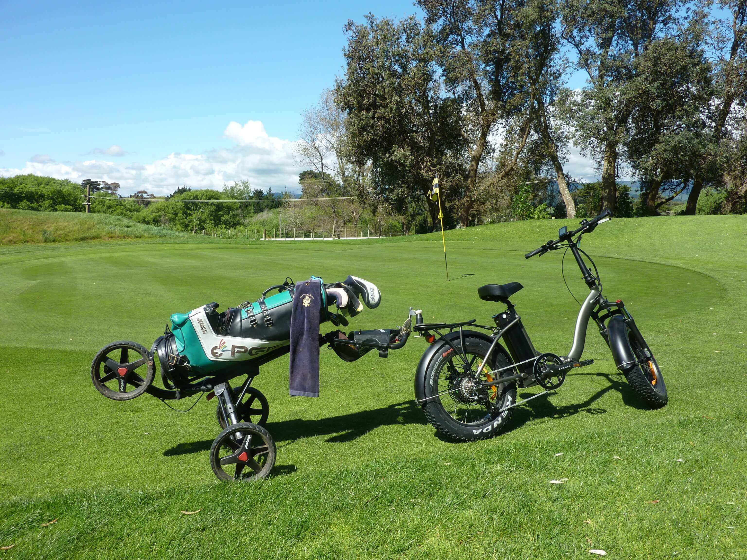 TeeBike beside green