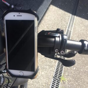 Phone mount on bike