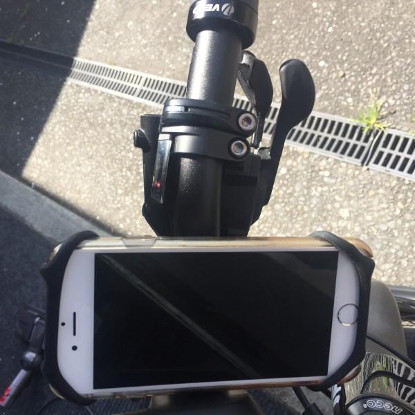 Phone mount on bike